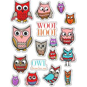 ml pretty owl stickers