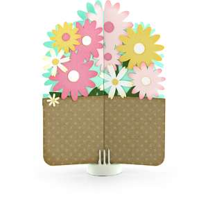 double gatefold card flower bunch