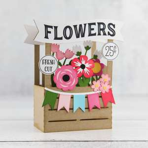 a2 box card flower stand