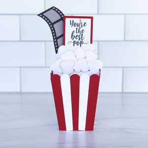 box card father's day popcorn