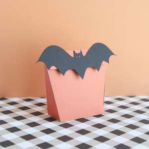 bat fold over treat bag