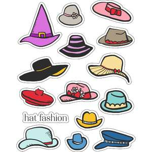 ml hat fashion stickers
