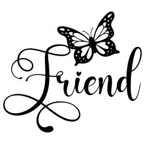 friend butterfly word