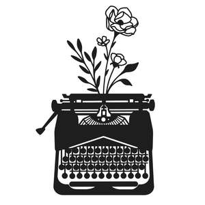wildflower typewriter