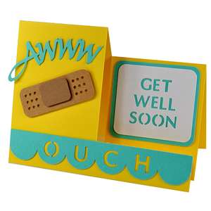 awww get well soon side step card