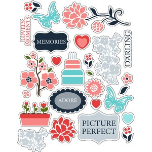 ml flower coral stickers
