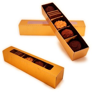 box 3d candy divided tray with sleeve