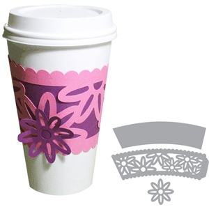 coffee cup sleeve - flowers