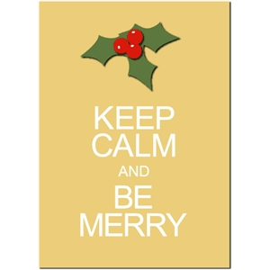 keep calm be merry phrase