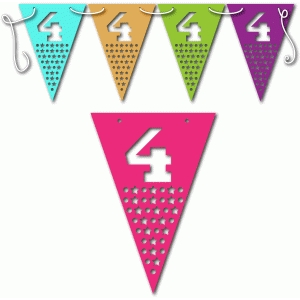 4th birthday bunting