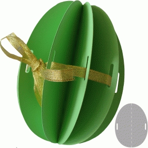 3d easter egg with ribbon