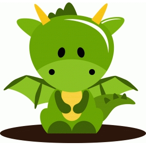 cute green dragon