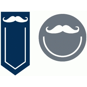 set of 2 moustache paperclips