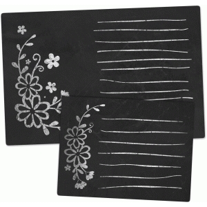 chalkboard set - floral journaling