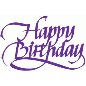 happy birthday - calligraphy