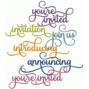 perfect flourish - you're invited announcement