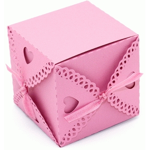 box valentine heart tie box