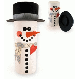 3d snowman wrap for canister