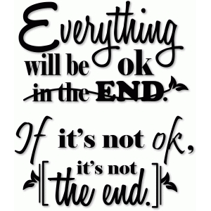everything will be ok phrase vinyl