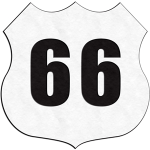 traffic signs - route 66