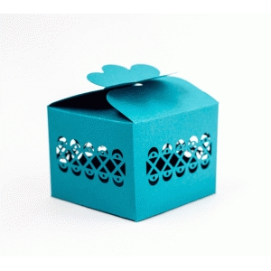 gift box with geometric border
