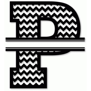 chevron split monogram p