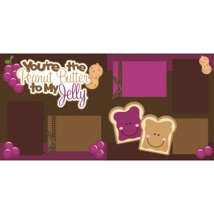 peanut butter and jelly 2 page scrapbook kit