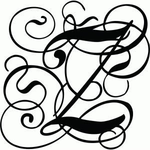 Calligraphy Flourish Monogram Z