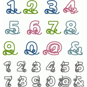 flourish block alpha - numbers punctuation