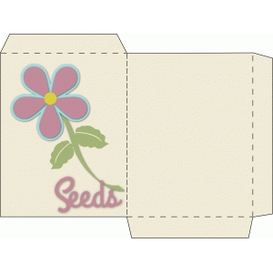 seed packet with flower