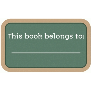 this book belongs to