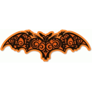 bat filigree stencil vinyl