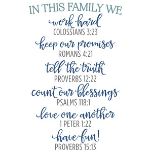 in this family - scriptures phrase