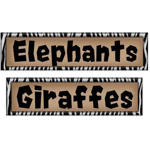 zoo labels set- elephants & giraffes