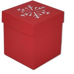 snowflake gift treat box