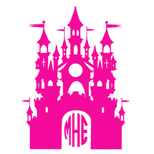 castle monogram frame