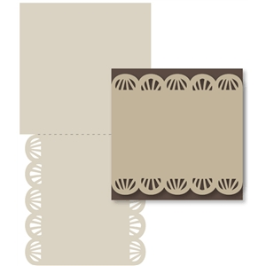 double -sided scallop rays card