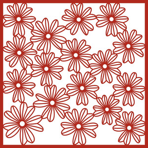 candy flower 12x12 page, background or stencil
