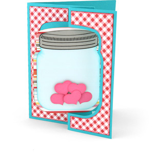 flip flap card mason jar