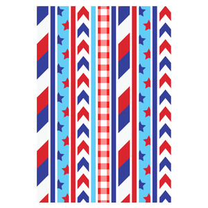 4th of july washi tape stickers planning