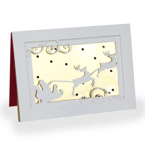 santa sleigh shadow box card