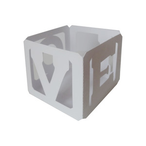 3d letter block votive - 'love'