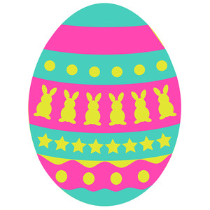 patterned easter egg