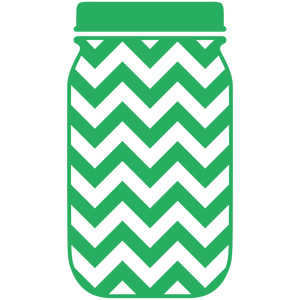 mason jar chevron