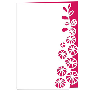 hollyhocks lace edged card