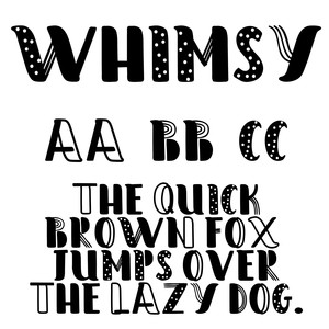 cg whimy font