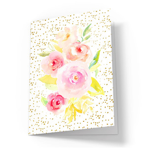 cute watercolor roses card