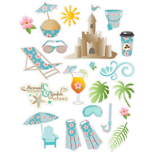 beach planner stickers