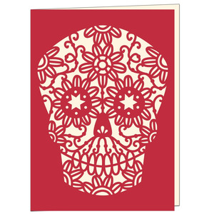 mexican day of the dead sugar skull card