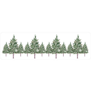 pine trees label